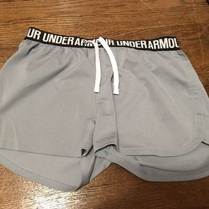 Gray under armour shorts